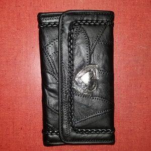 Black patch wallet
